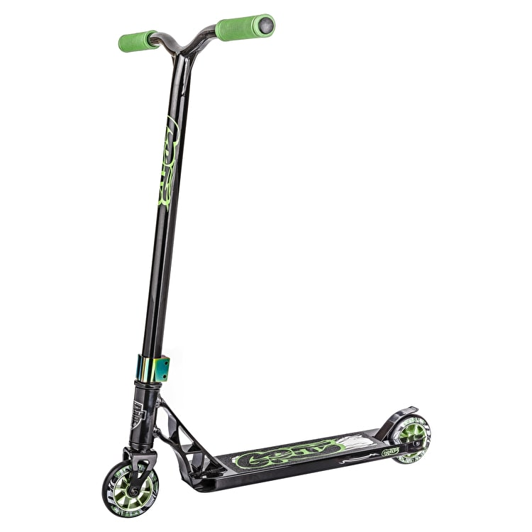 Grit 2018 Fluxx Complete Scooter - Black/Green Quake