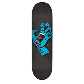 Santa Cruz Team Skateboard Deck - Minimal Hand Black 7.8