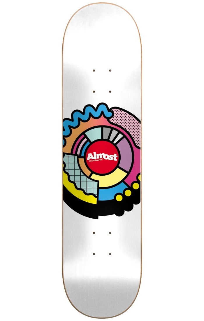 Image of Almost Center Block R7 Skateboard Deck - Multi 8.125""