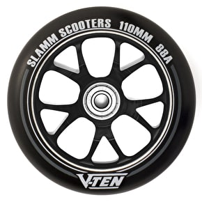 Slamm 110mm V-Ten II Aluminium Core Scooter Wheel - Black/Black