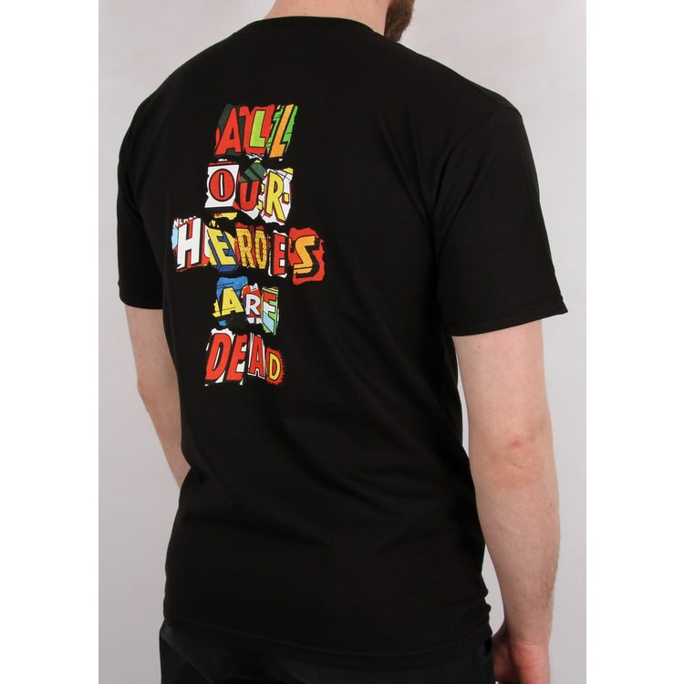 Huf Our Heroes T-Shirt - Black