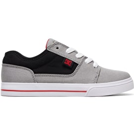 DC Tonik TX Boys Skate Shoes - Grey/Black/Red