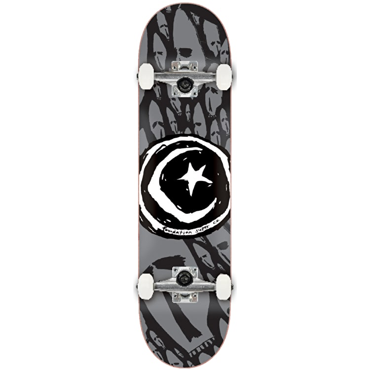 Foundation Star & Moon Complete Skateboard - Skulls 8.125""