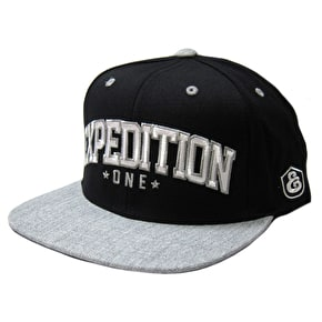 Expedition One Bender Snapback Cap - Black/Grey