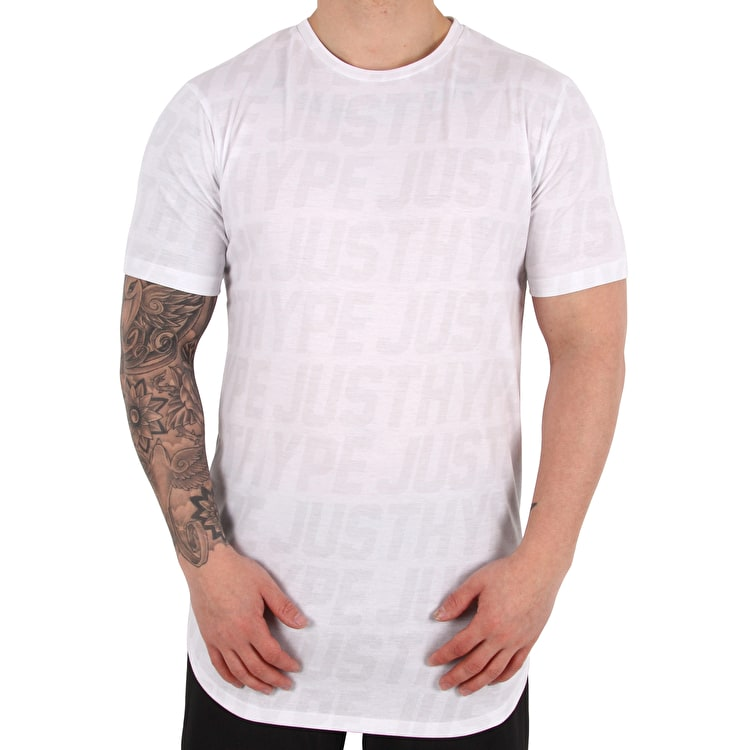 Hype Tonal Sporting T shirt - White/Grey