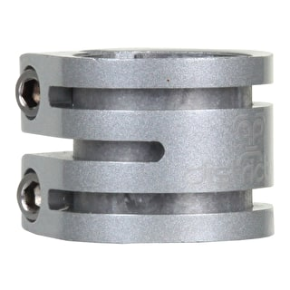 District Double Lightweight Collar Clamp - Silver