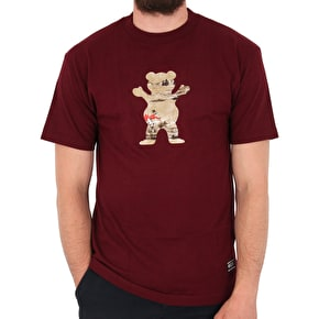 Grizzly Hunting Lodge OG Bear T-Shirt - Burgundy