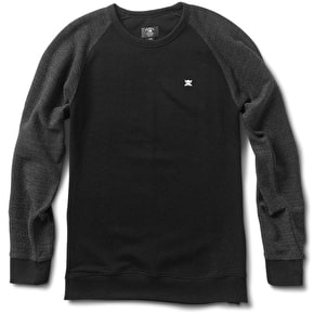 Fourstar Mini Flock Raglan - Black