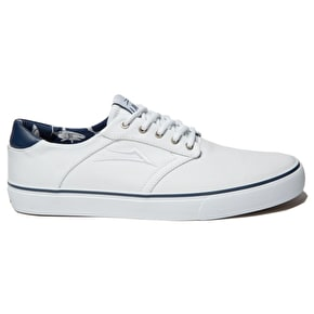 Lakai Porter Skate Shoes - White Canvas
