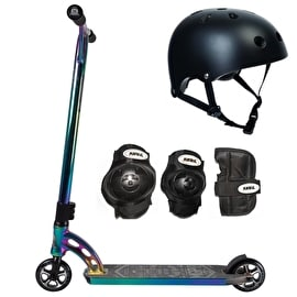 MGP VX7 Team LE Neochrome/Black/Neochrome Complete Scooter Bundle