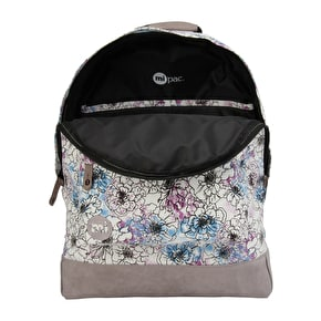 Mi-Pac Unfinished Floral Backpack - Cream Multi