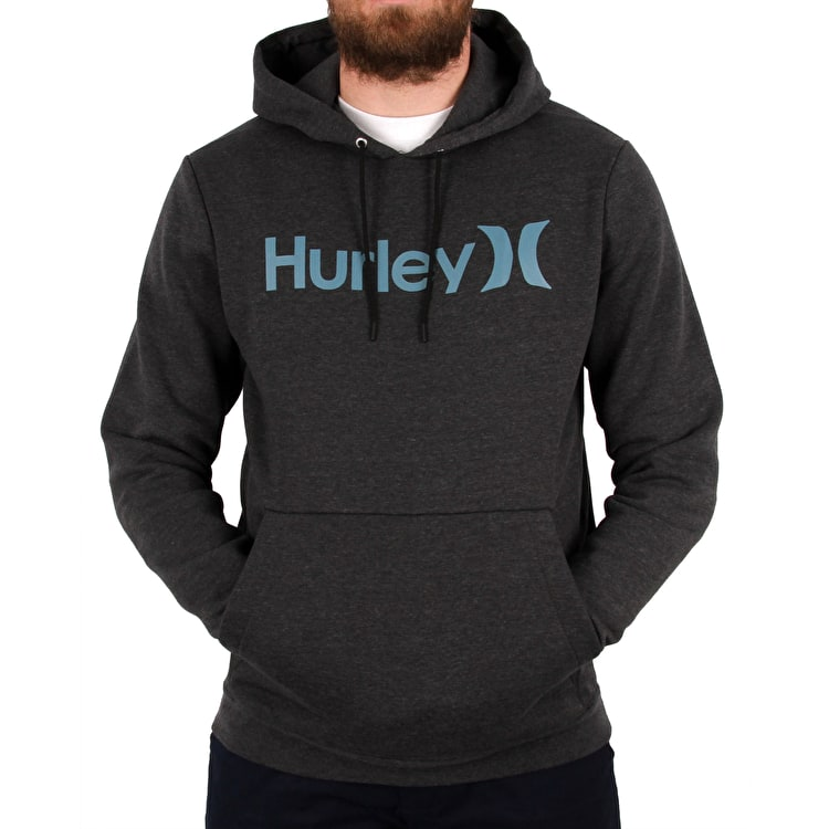 Hurley Surf Check One & Only Hoodie - Black Heather