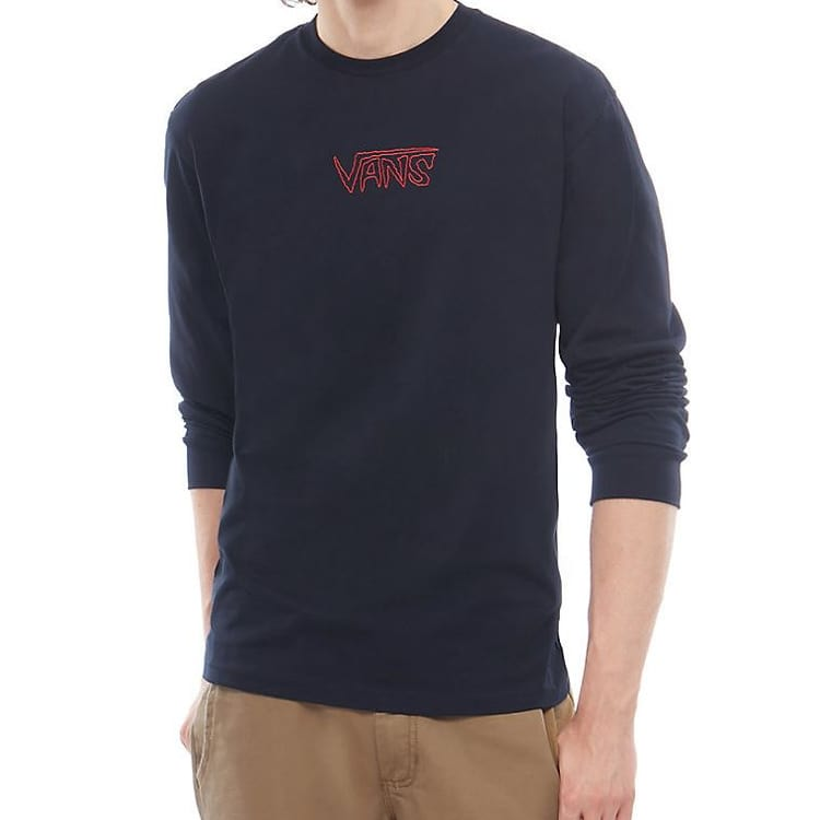 Vans Sketch Tape Long Sleeve T shirt - Black