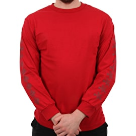 Independent x Thrasher Pentagram Cross Long Sleeve T Shirt - Cardinal Red