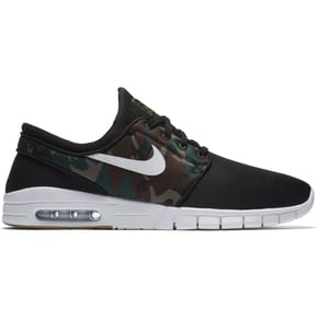 Nike SB Stefan Janoski Max Skate Shoes - Black/White/Medium Olive