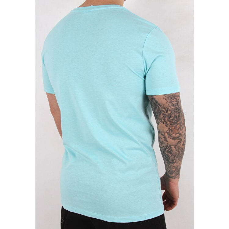 Hype Script T shirt - Mint/Blue