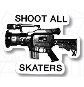 The Berrics Shoot All Sticker - Clear