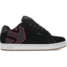Etnies Fader Skate Shoes - Black/White/Burgundy