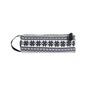 Mi-Pac Fairisle Pencil Case - Navy/White