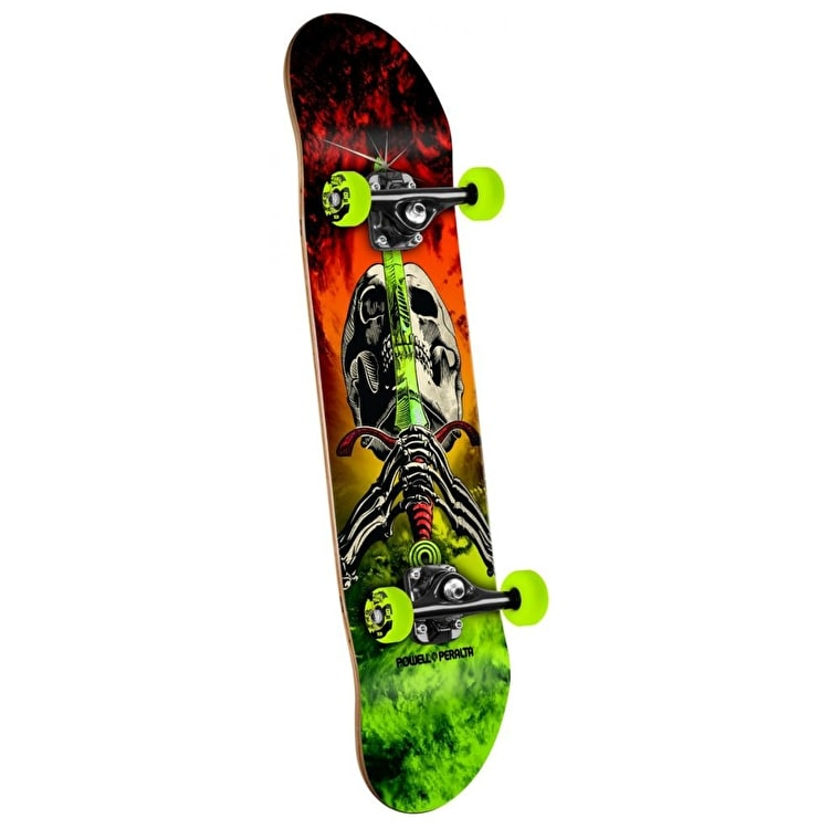 Powell Peralta Skateboard - Storm Skull & Sword Red/Green 7.5""