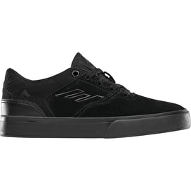 Emerica The Reynolds Low Vulc Skate Shoes - Black/Black UK 6