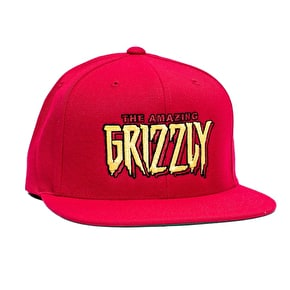 Grizzly x Spiderman Snapback Cap - Red
