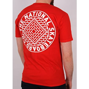 National Skateboard Co Team T-Shirt - Red