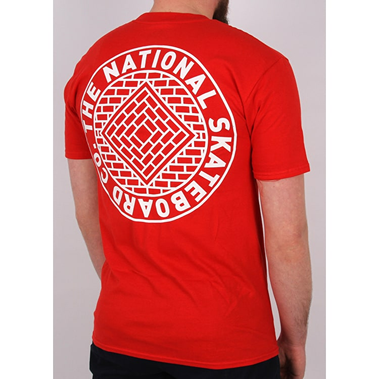 National Skateboard Co Team T shirt - Red