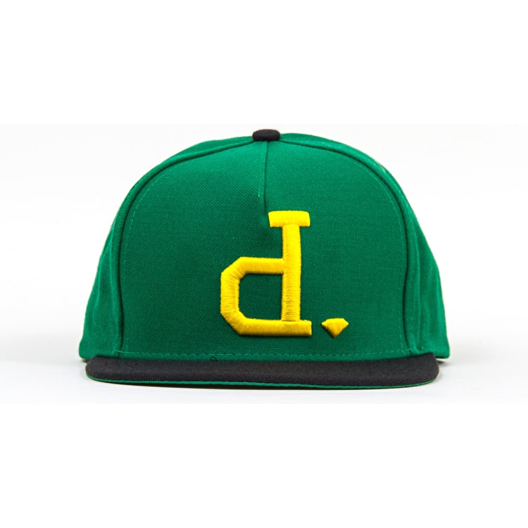 Diamond Un-Polo Snapback Cap - Green / Yellow