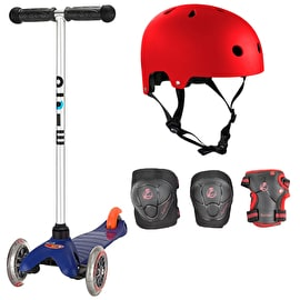 Mini Micro T-Bar Scooter Bundle - Blue/Red