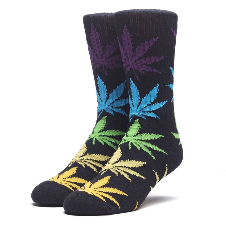 Huf Melange Plantlife Socks - Black/Multi