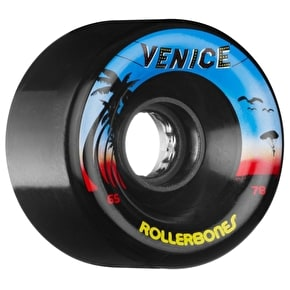 Rollerbones Venice Quad Skate Wheels - Black 65mm 78A