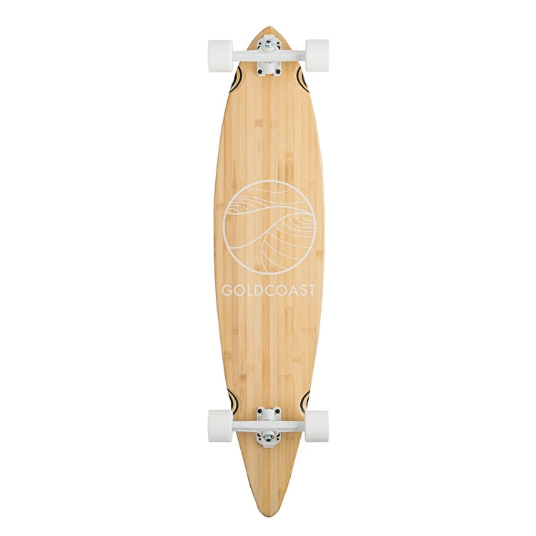 """Goldcoast Classic Bamboo Pintail Complete Longboard - 44"""""""