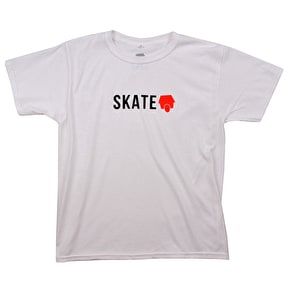 SkateHut Skate Logo Kids T-Shirt - Black/Red