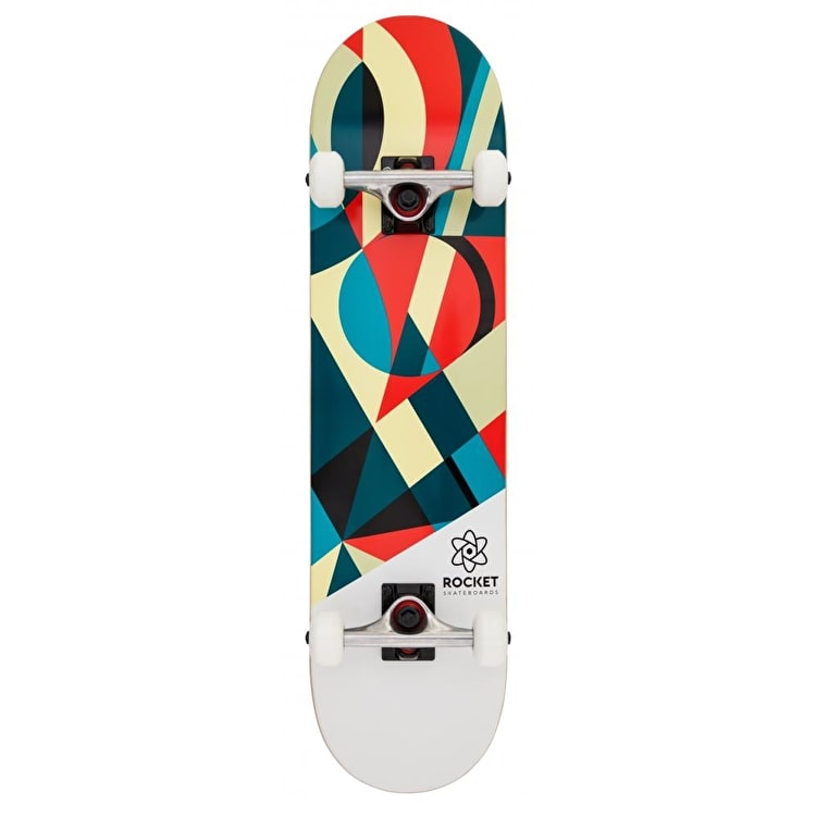 Rocket Eclipse Series Complete Skateboard - Red/Green 7.75""