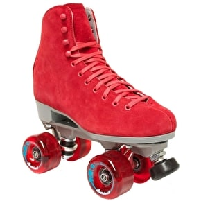Sure-Grip Boardwalk Suede Quad Roller Skates- Bordeaux Red