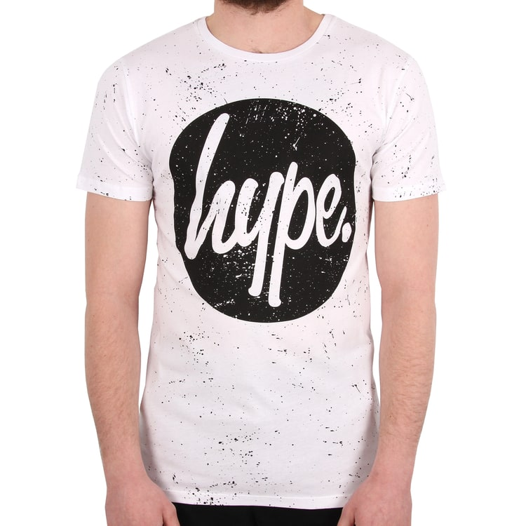 Hype Speckle Circle T-Shirt - White/Black