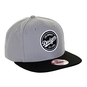 New Era 9Fifty LA Dodgers Snapback Cap - Grey/Black