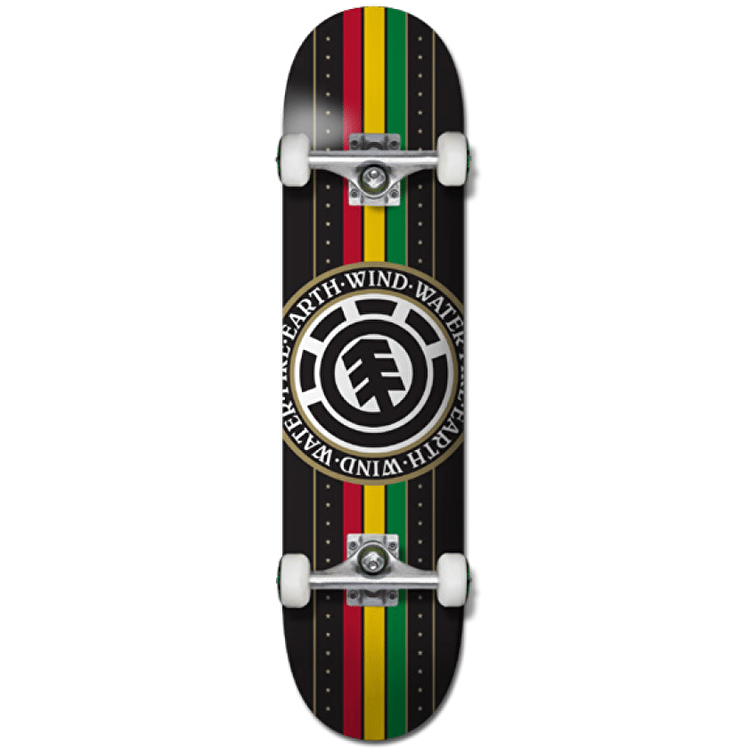 Element Skateboard - Rasta Seal 8""