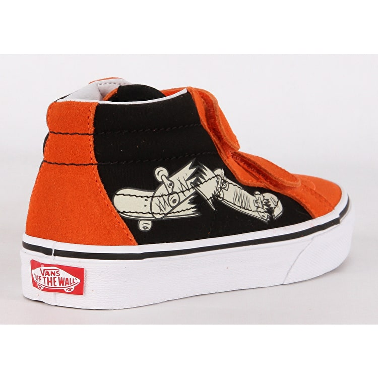 Vans Sk8-Mid Reissue V Kids Skate Shoes - Flame/Black