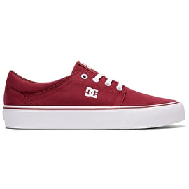 DC Trase TX Skate Shoes - Red/White