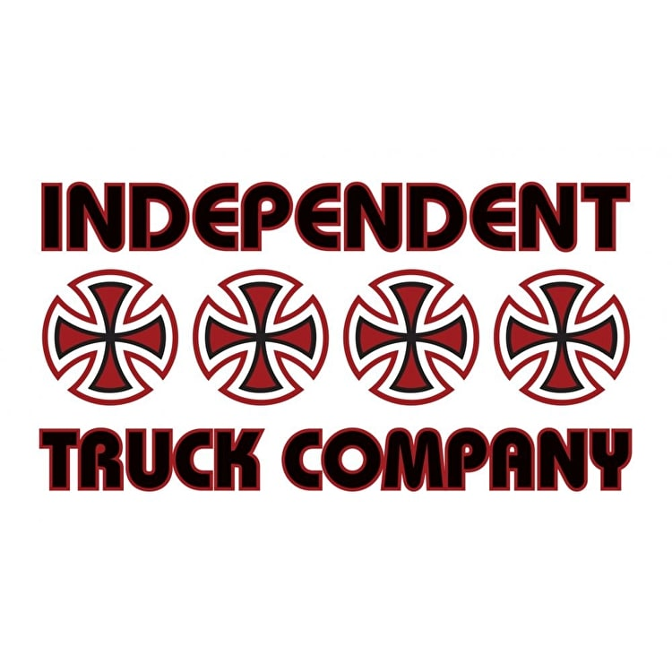 "Independent Stacked Colour 3"" Skateboard Sticker - White"