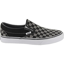 Vans Classic Slip-On Shoes - Black/Pewter Checkerboard
