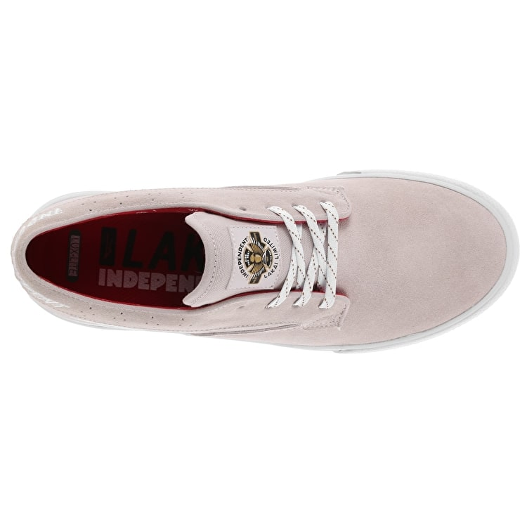 Lakai x Independent Riley Hawk Skate Shoes - White Suede