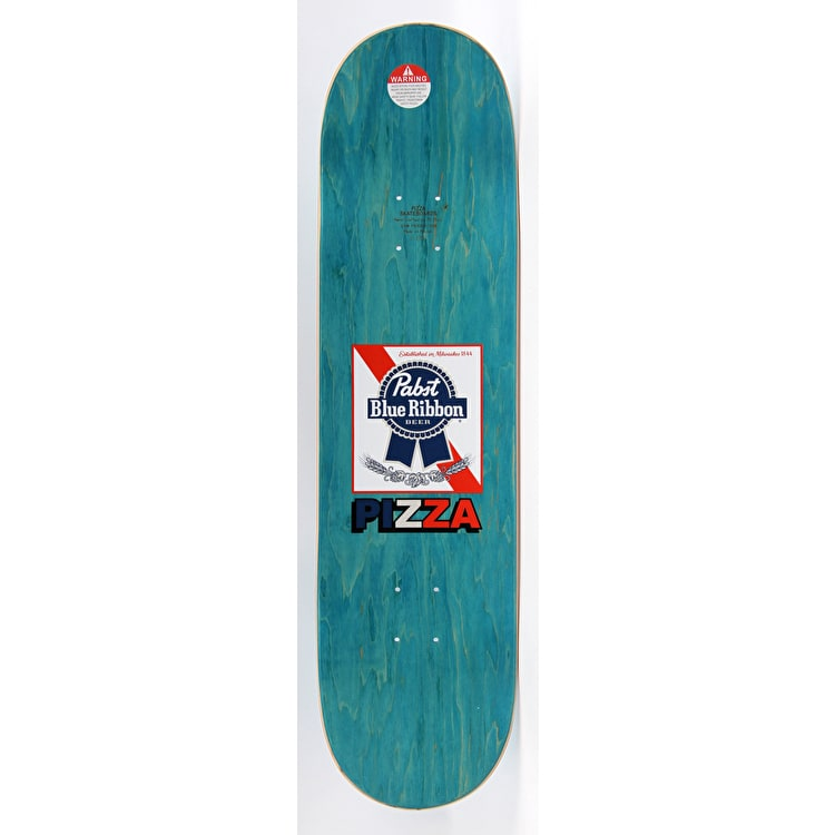 Pizza Skateboards PBR X Pizza Skateboard Deck - Blue - 8.38""