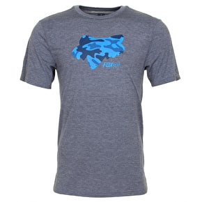 Fox Stenciled T-Shirt - Heather Graphite