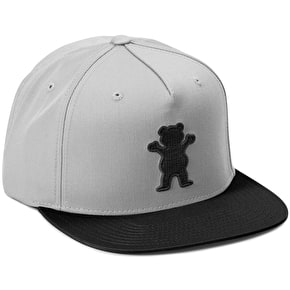 Grizzly 2 Tone OG Bear Snapback Cap - Grey/Black