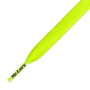 Mr Lacy Shoelaces - Flatties Neon Lime Yellow