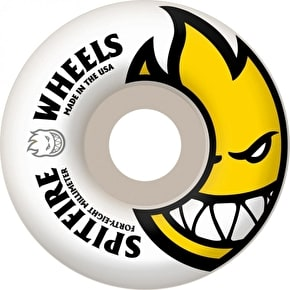 Spitfire Bighead Skateboard Wheels - White/Yellow 48mm