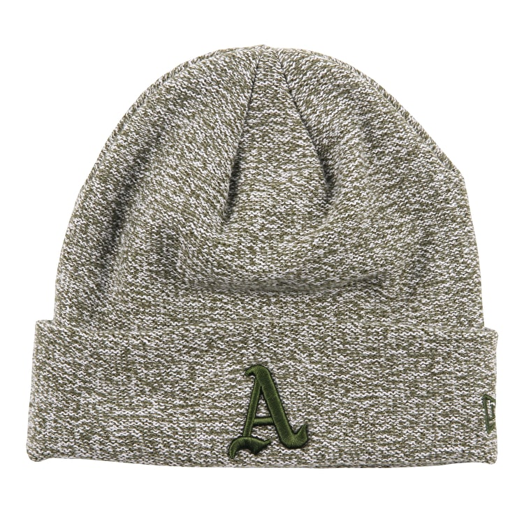 New Era Basket Knit Beanie - Oakland Athletics Cooperstown